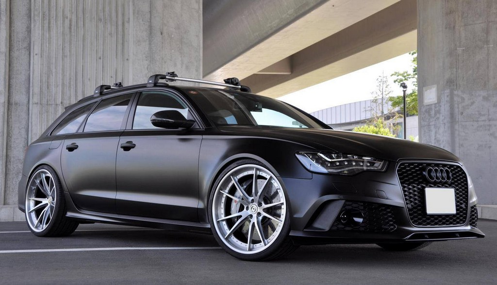 Matte Black Mtm Audi Rs6 With Hre Wheels