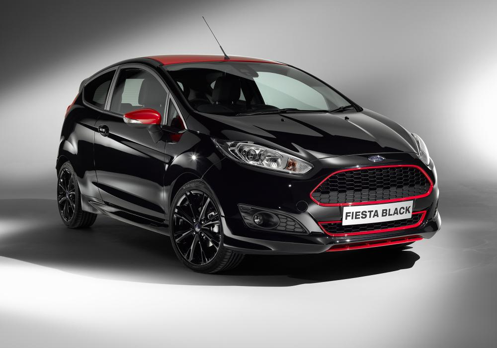 ford fiesta red and black edition for uk. Black Bedroom Furniture Sets. Home Design Ideas