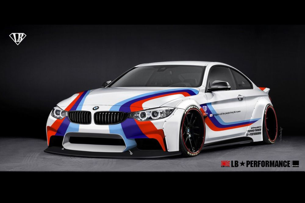 liberty walk bmw 4 series wide body announced. Black Bedroom Furniture Sets. Home Design Ideas