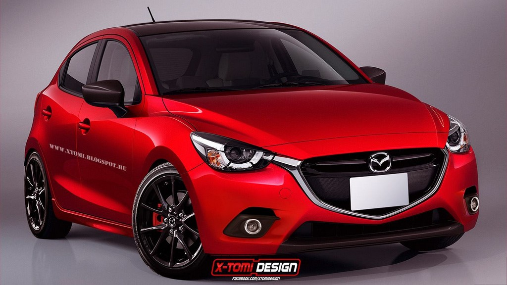 2016 mazda2 mps rendering looks the business. Black Bedroom Furniture Sets. Home Design Ideas