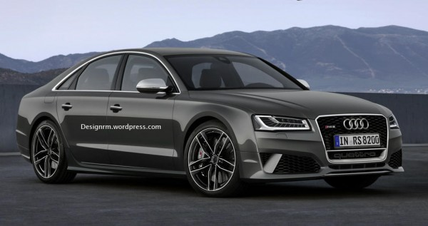 Audi RS8 1 600x317 at Muscular Audi RS8 Speculatively Rendered