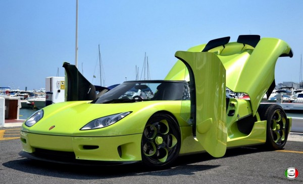 CCR 0 600x365 at Lime Green Koenigsegg CCR Spotted in Marbella