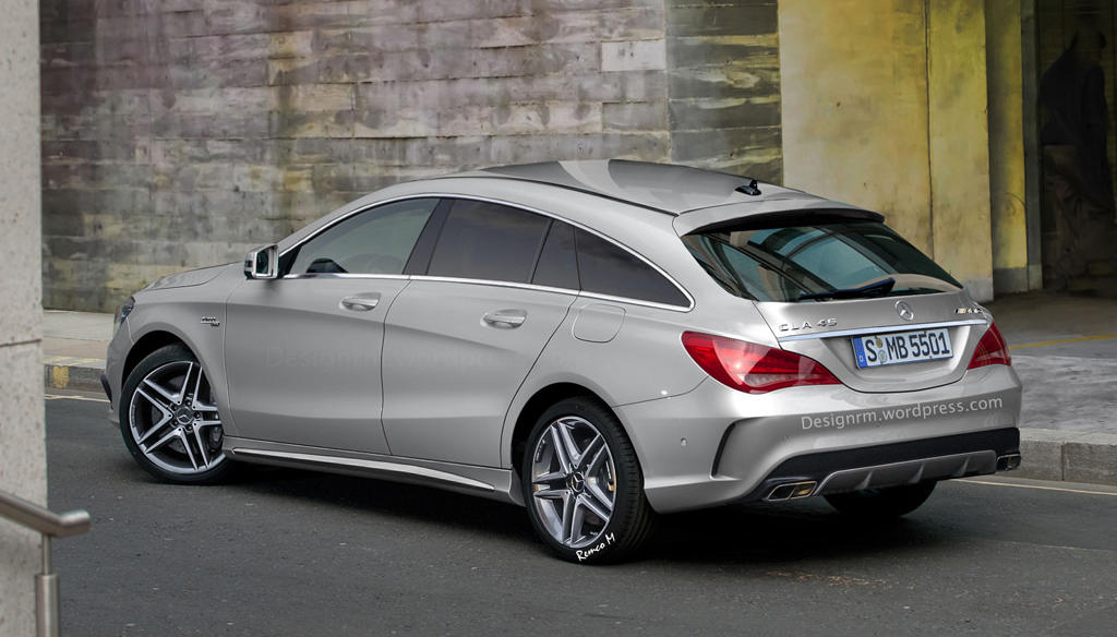rendering mercedes cla 45 amg shooting brake. Black Bedroom Furniture Sets. Home Design Ideas