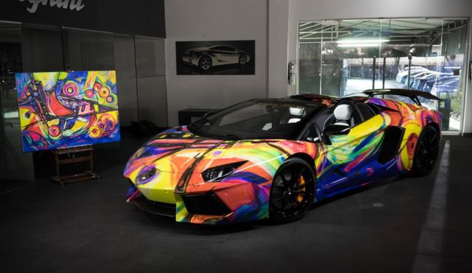 Lamborghini Aventador Art Car By Lamborghini Miami