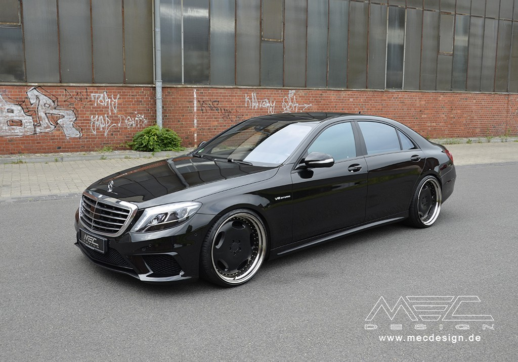 mec design mercedes s63 amg gets retro wheels. Black Bedroom Furniture Sets. Home Design Ideas