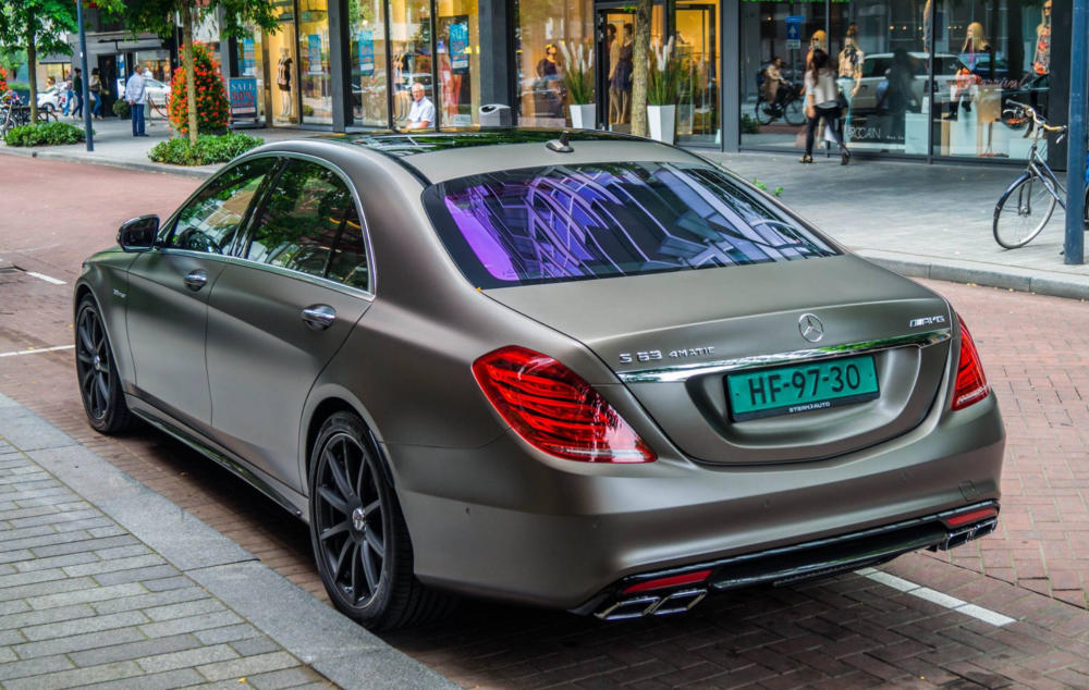 Super Saloon Royalty Matte Brown Mercedes S63 Amg