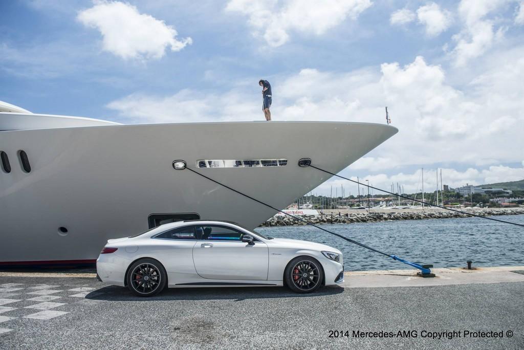 Mercedes S63 AMG Coupe Hugo Boss Photoshoot