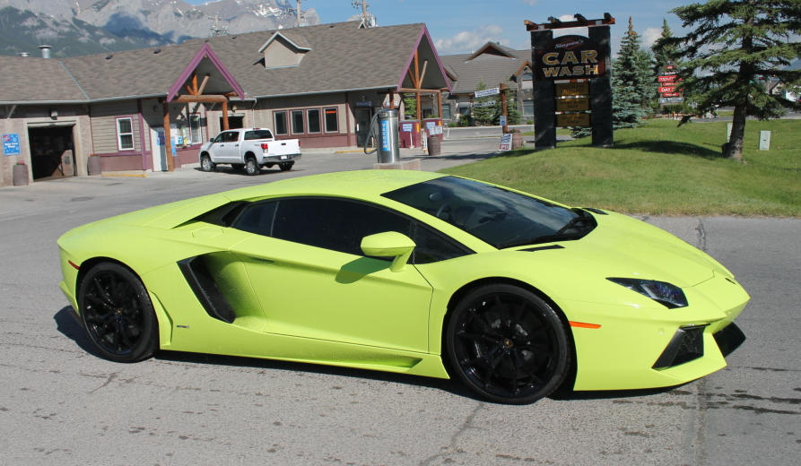 Verde Scandal Lamborghini Aventador From Canada