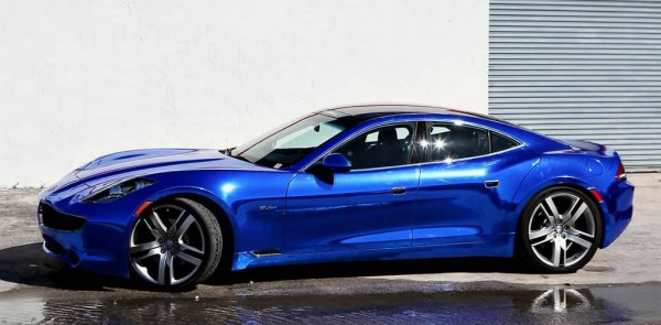 blue chrome fisker 0 600x295 at Blue Chrome Fisker Karma by Metro Wrapz