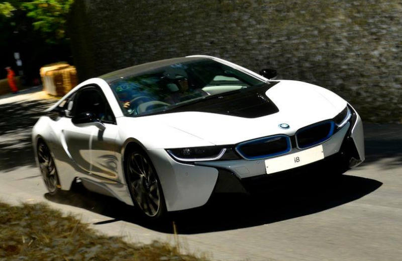 Morgan Hill Honda >> BMW i8 at Goodwood Hill Climb Course
