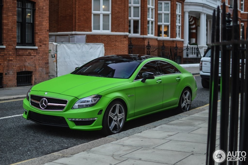 Matte Green Mercedes Cls63 Amg Spotted In London