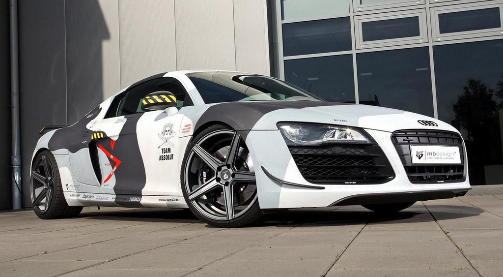 Mbdesign Audi R8 V8 In Arctic Camo