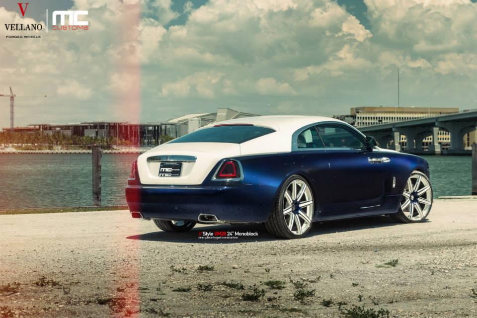 Rolls Royce Wraith On Custom Vellano Wheels