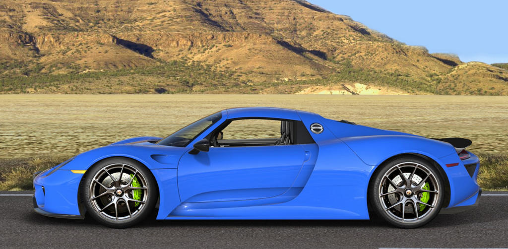 rendering porsche 918 spyder on hre wheels. Black Bedroom Furniture Sets. Home Design Ideas