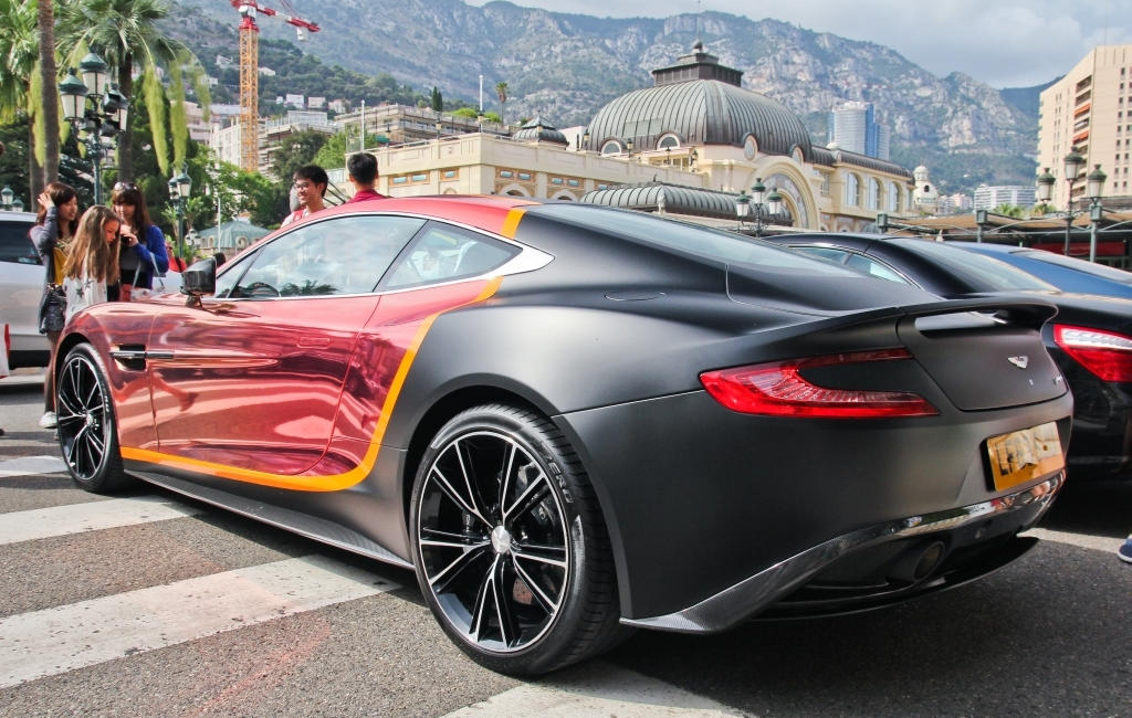 Aston Martin Vanquish with Creative Two-Tone Wrap
