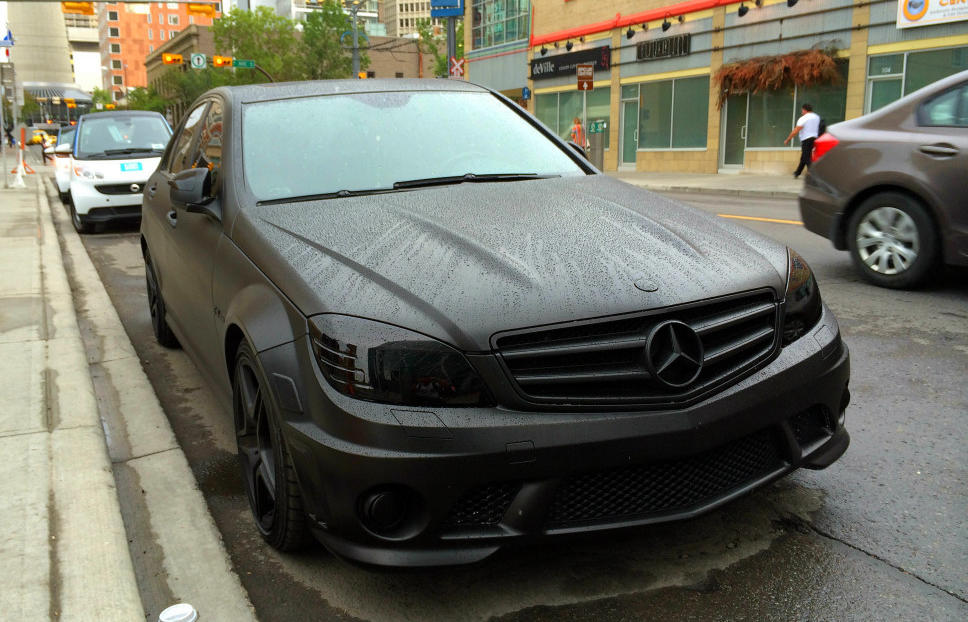 The Dark Side Of Canada Blacked Out Mercedes C63 Amg