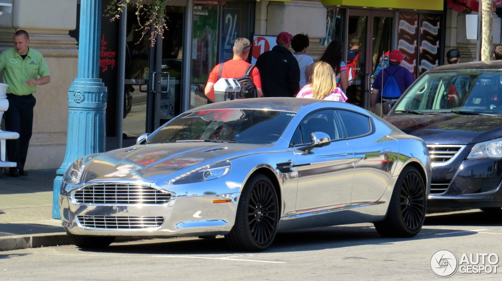 Chrome Aston Martin Rapide Shines Bright In Beverly Hills