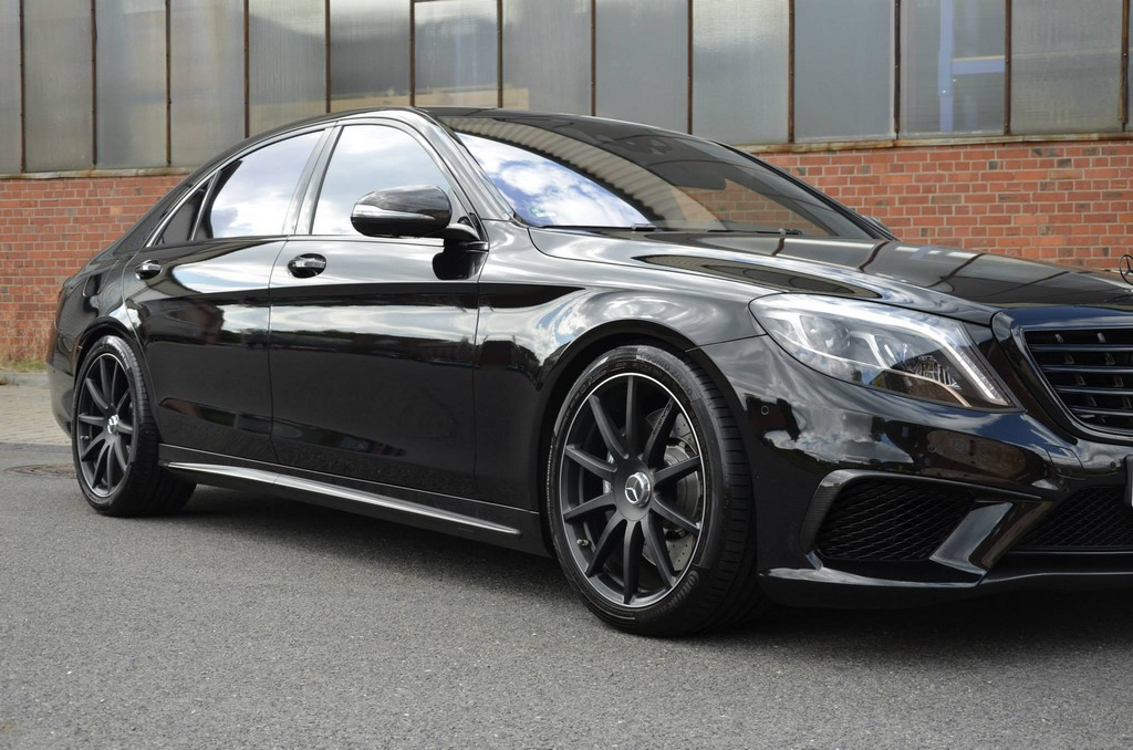 Murdered out mercedes s63 amg by mec design for Mercedes benz s63 amg biturbo
