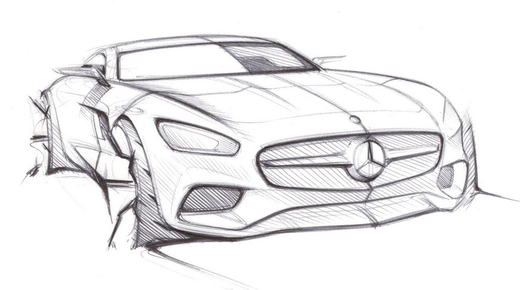 Mercedes Amg Gt Previewed In Official Sketches on ford gt