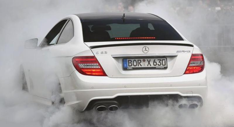 PP-Performance Mercedes C63 AMG Redefines Burnout