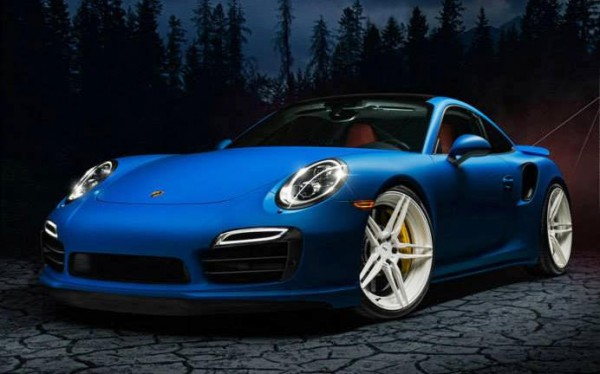 blue 991 0 600x374 at Blue Porsche 991 Stands Out on White ADV1s