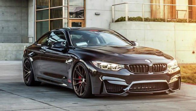 Black BMW M4 on Bronze HRE Wheels Is Metal Poetry Blacked Out Bmw M4