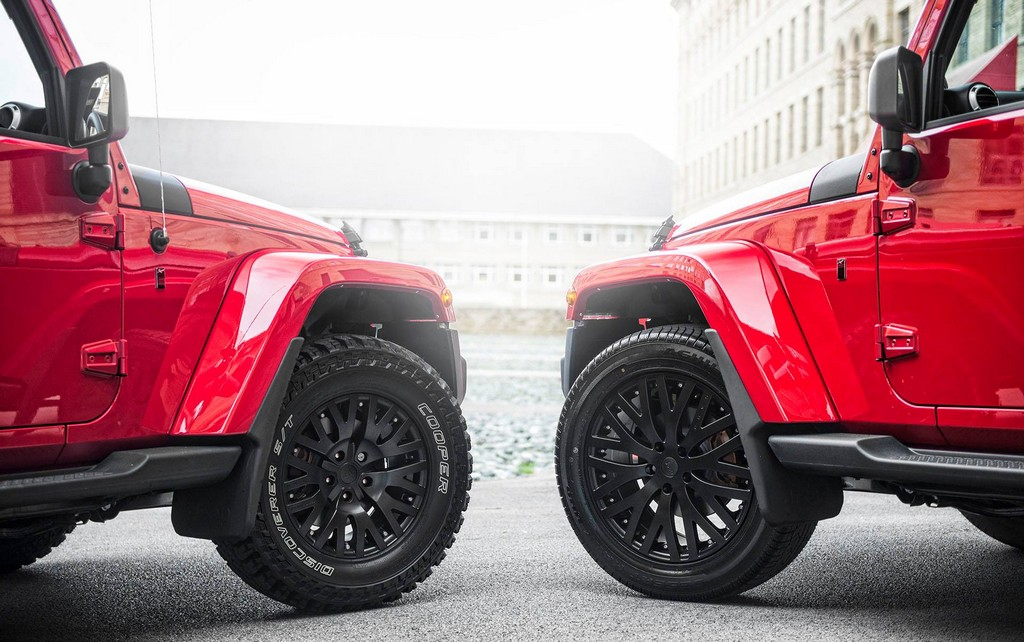 Chelsea Twins Kahn Design Jeep Wrangler Photoshoot