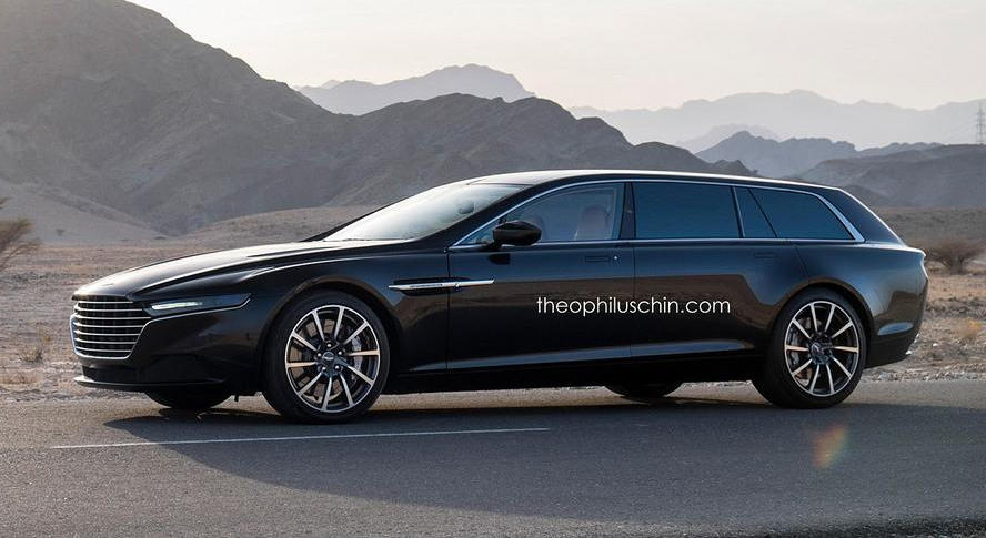 Luxury Hearse Aston Martin Lagonda Shooting Brake Rendered