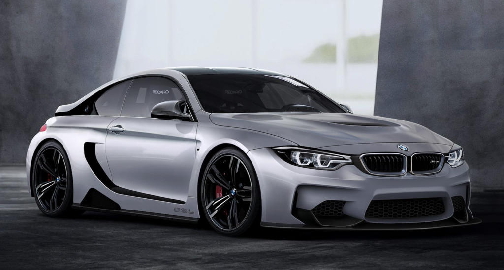Bmw M4 Csl Rendered With I8 Like Features
