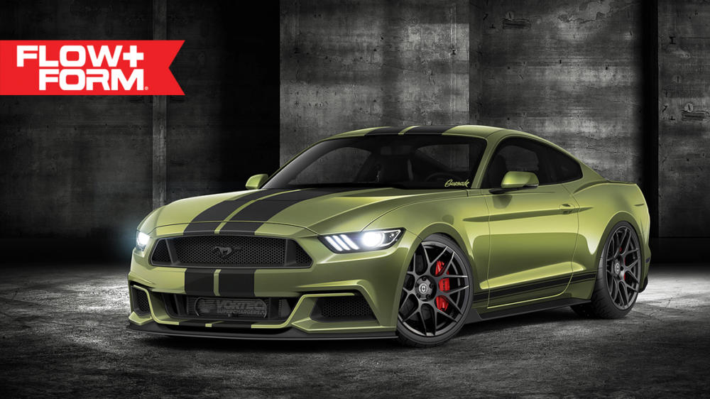 Tricked-Out Ford Mustang Rendered on HRE Wheels
