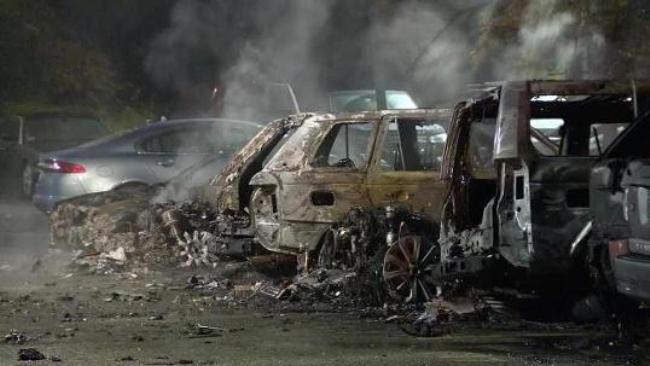 20 jaguar land rover cars destroyed in showroom fire