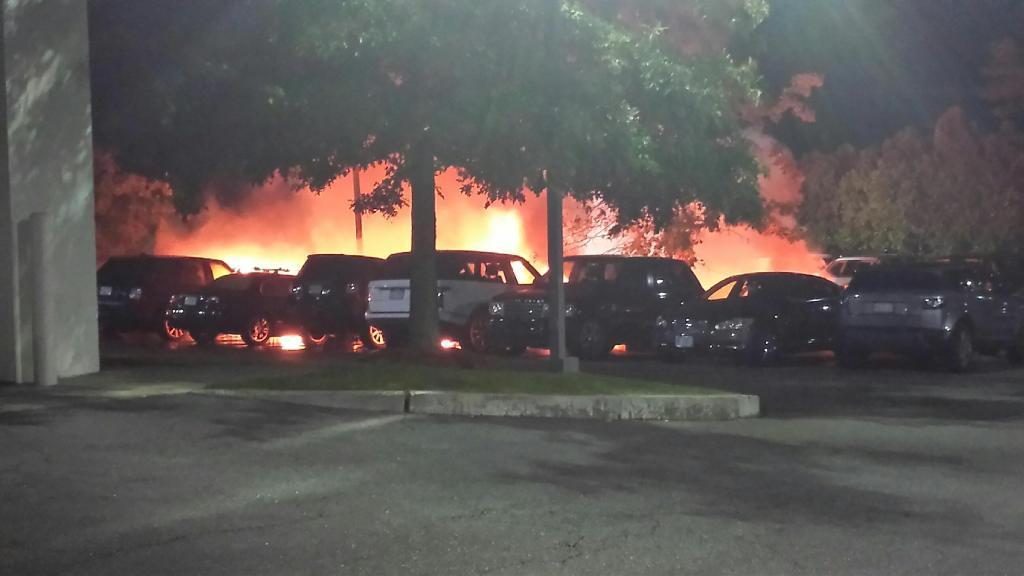 20 Jaguar Land Rover Cars Destroyed In Showroom Fire