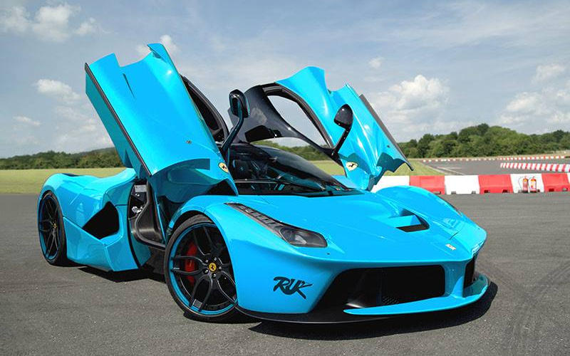 Ferrari LaFerrari Rendered in Baby Blue   Motorward