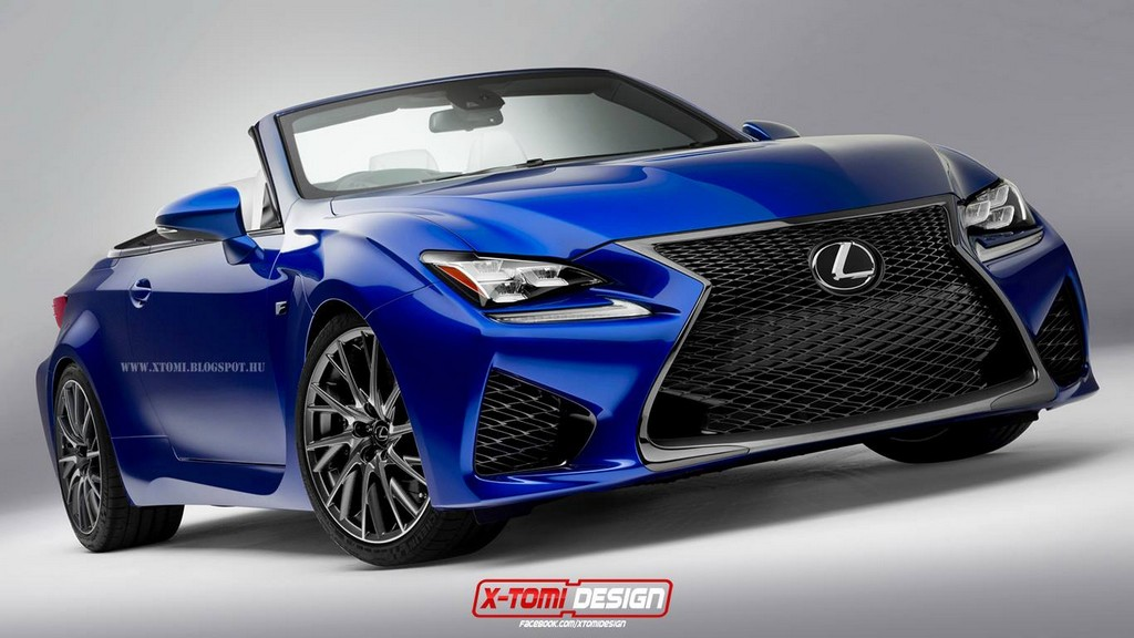 Lexus Rc F Convertible Rendering Emerges