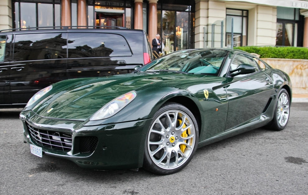 Dark Green Ferrari 599 Is One Classy Machine