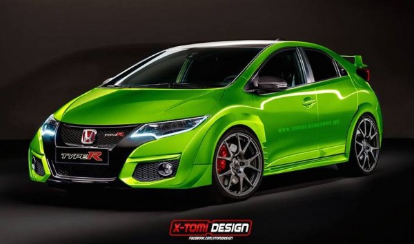 honda civic type r 600x354 at Honda Civic Type R Rendered in Production Guise