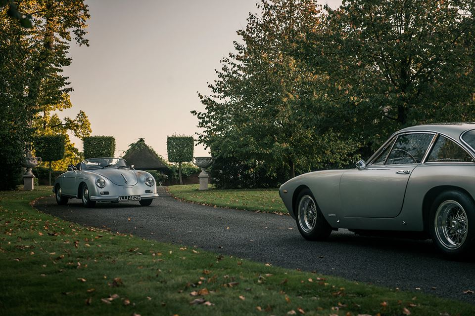 Porsche 356 Speedster и Ferrari 250 Luso