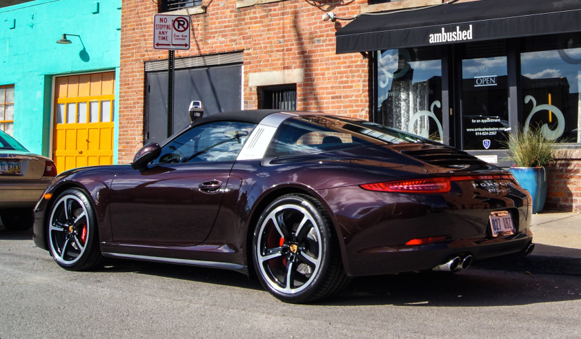 porsche 991 targa spotted in unique color. Black Bedroom Furniture Sets. Home Design Ideas