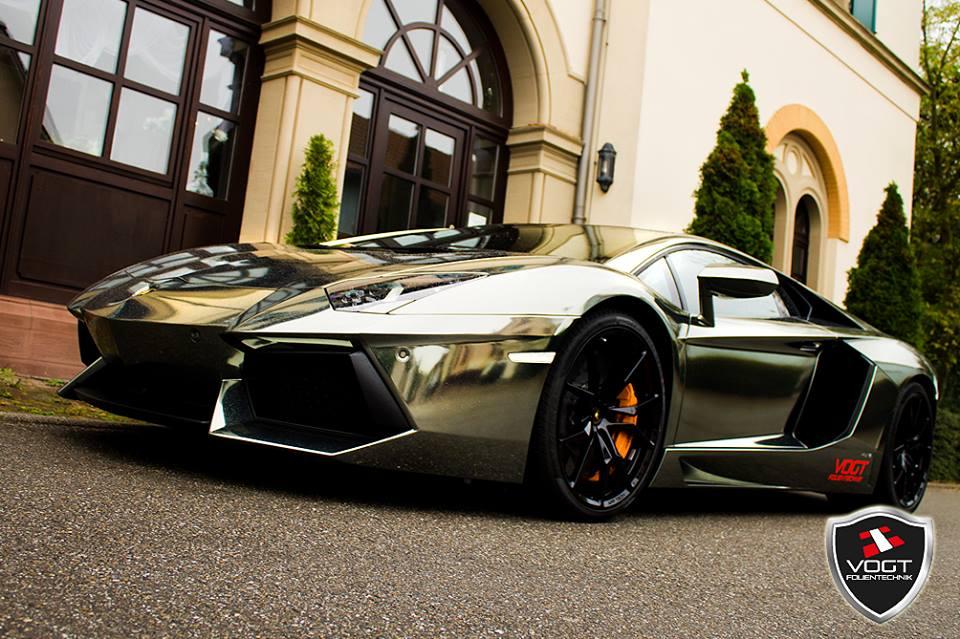 Chrome Lamborghini Aventador By Vogt Folientechnik