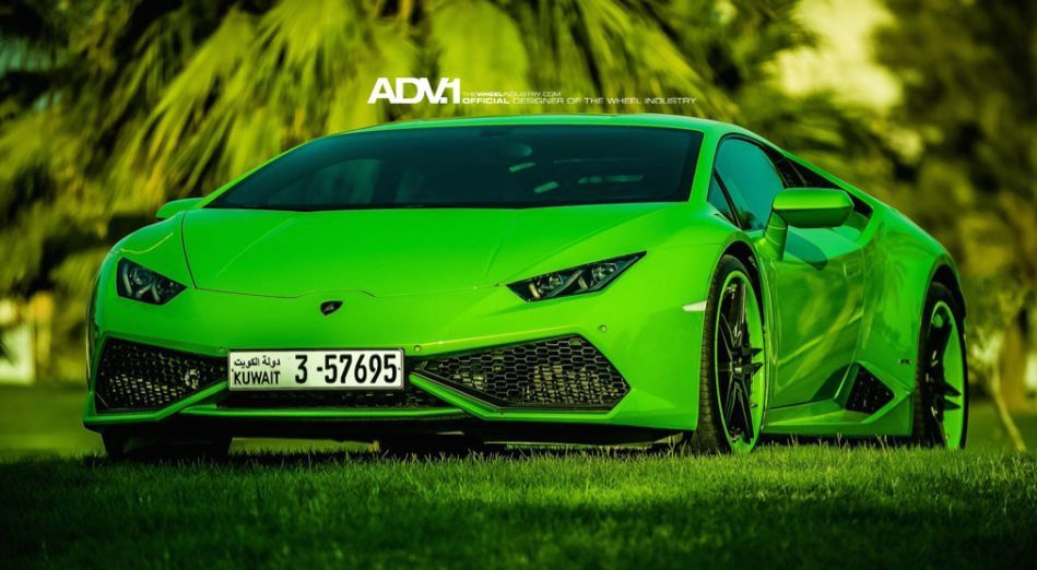 huracan on adv1 0 600x330 at treat for the eyes green lamborghini huracan on adv1