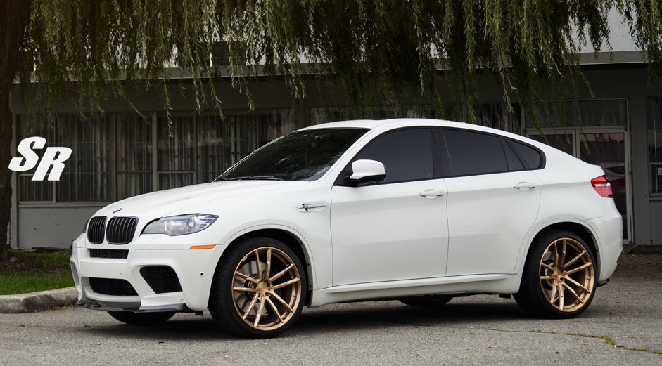 gold wheeled bmw x6m by sr auto group. Black Bedroom Furniture Sets. Home Design Ideas