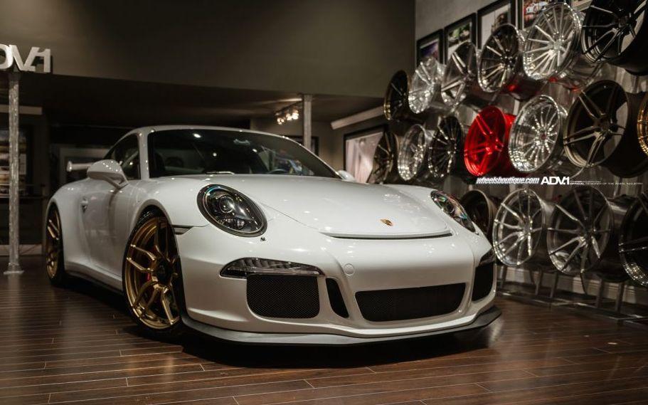 Porsche 991 Gt3 On Gold Adv1 Wheels