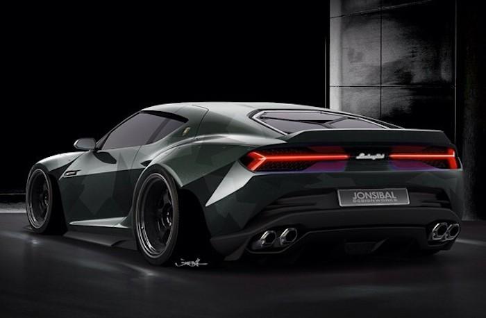 Rendering Lamborghini Asterion Wide Body