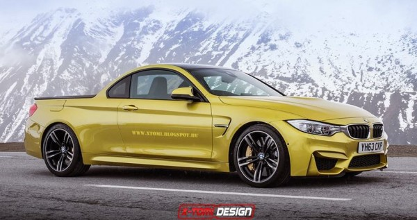 bmw m4 pickup 600x317 at BMW M4 Pickup Rendered, Still Looks Good