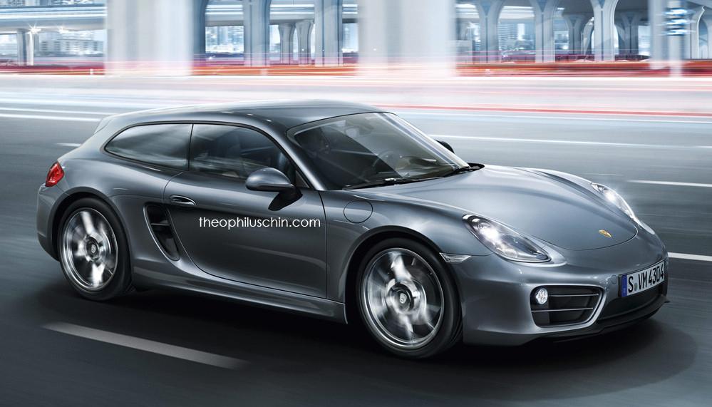 Фото | Неофициальный дизайн Porsche Cayman Shooting Brake