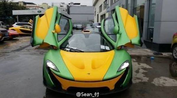 p1 weird 1 at Super Weird McLaren P1 Spotted in China