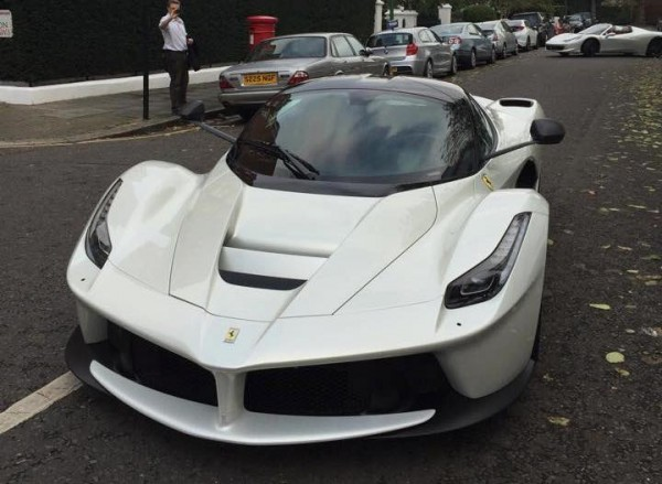 white LF 0 600x439 at London's New White LaFerrari Is a Sight to Behold