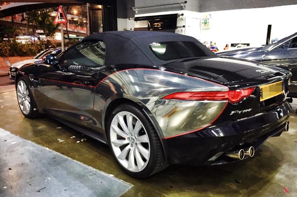Jaguar F Type Gets Custom Chrome Wrap