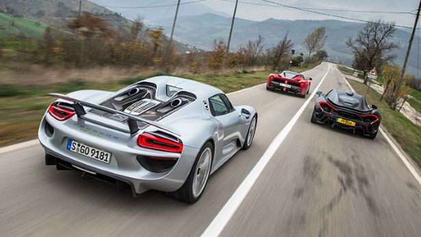 gallery laferrari vs mclaren p1 vs porsche 918. Black Bedroom Furniture Sets. Home Design Ideas