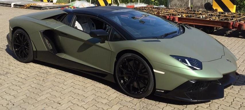 1 Of 1 Matte Verde Aaron Lamborghini Aventador